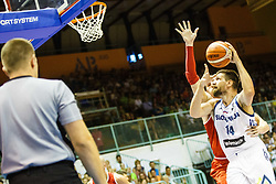 Gasper Vidmar #14 of Slovenia during friendly basketball match between National teams of Slovenia and Hungary on day 1 of Adecco Cup 2017, on August 4th in Arena Tabor, Maribor, Slovenia. Photo by Grega Valancic/ Sportida