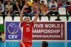20170524 NED: 2018 FIVB Volleyball World Championship qualification, Koog aan de Zaan<br />Juraj Zatko (15) of Slovakia <br />©2017-FotoHoogendoorn.nl / Pim Waslander