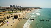 Aerial Photography of the Coastline of Hadera, Israel