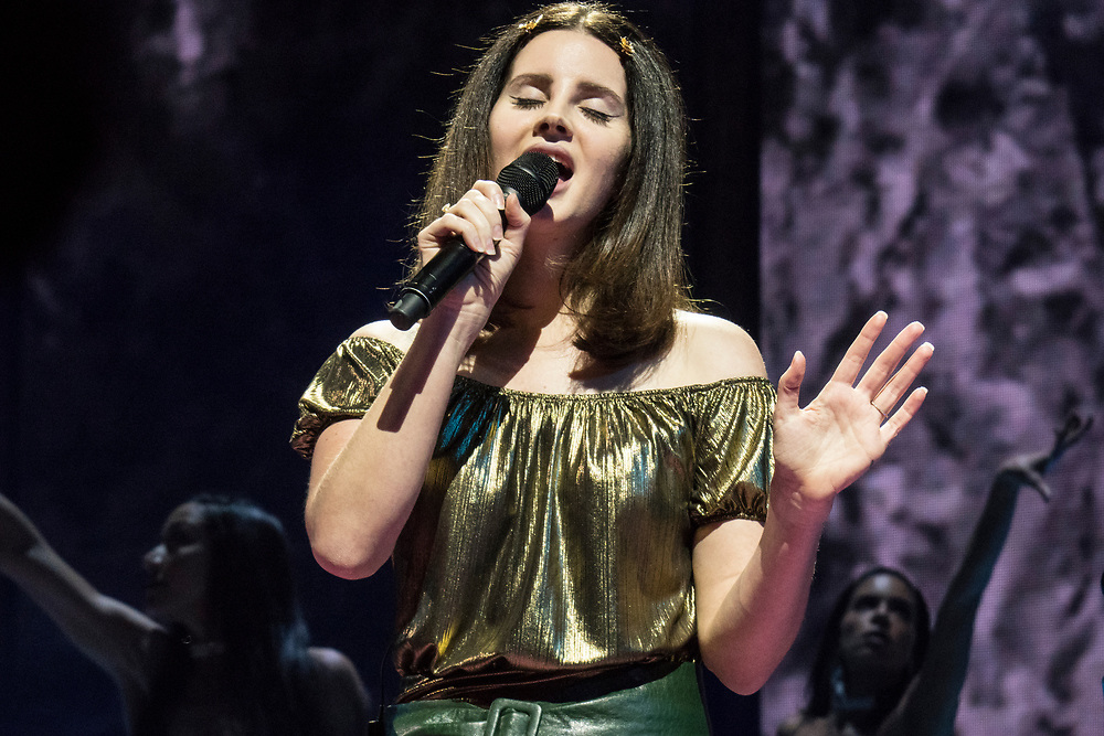 Lana Del Rey performing at the United Center in Chicago, IL on January 11, 2018 for her LA to the Moon Tour.