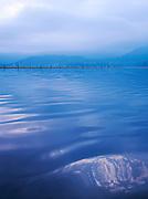 Stormy skies over Lake Dal, Kashmir, India