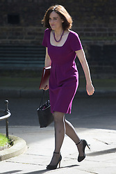Northern Ireland Secretary Theresa Villiers arrives at Prime Minister David Cameron's final cabinet meeting following Theresa May's anticipated takeover as Leader of the Conservative Party and Prime Minister