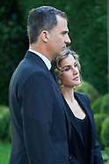 061416 Spanish Royals Sign Book of Condolences At USA Embassy