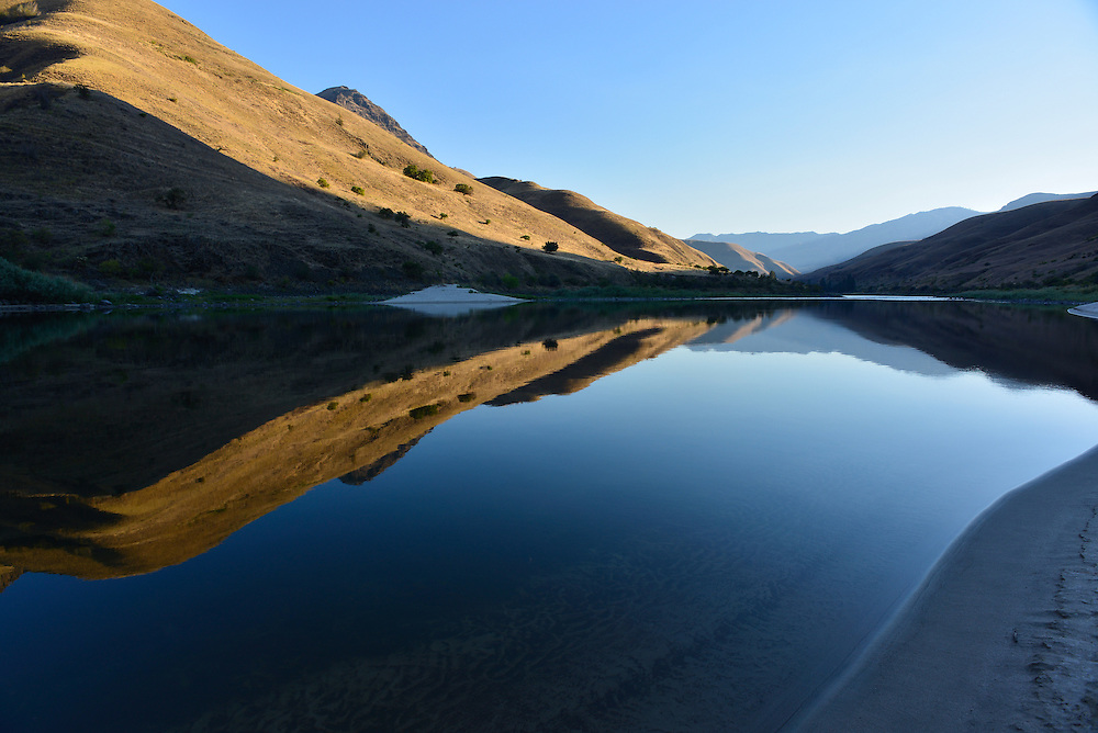 Evening on a calm section of Idaho's Lower Salmon River.