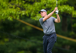 May 19, 2019 - Farmingdale, NY, U.S. - FARMINGDALE, NY - MAY 19: Jordan Spieth of the United States takes a tee shot on 14 during the Final Round of the 2019 PGA Championship, on the Black Course, Bethpage State Park, in Farmingdale, NY. (Photo by Joshua Sarner/Icon Sportswire) (Credit Image: © Joshua Sarner/Icon SMI via ZUMA Press)