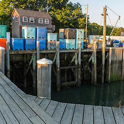 Tenants Harbor Fisherman's Coop at Miller's Wharf, in Tenants Harbor, Maine.