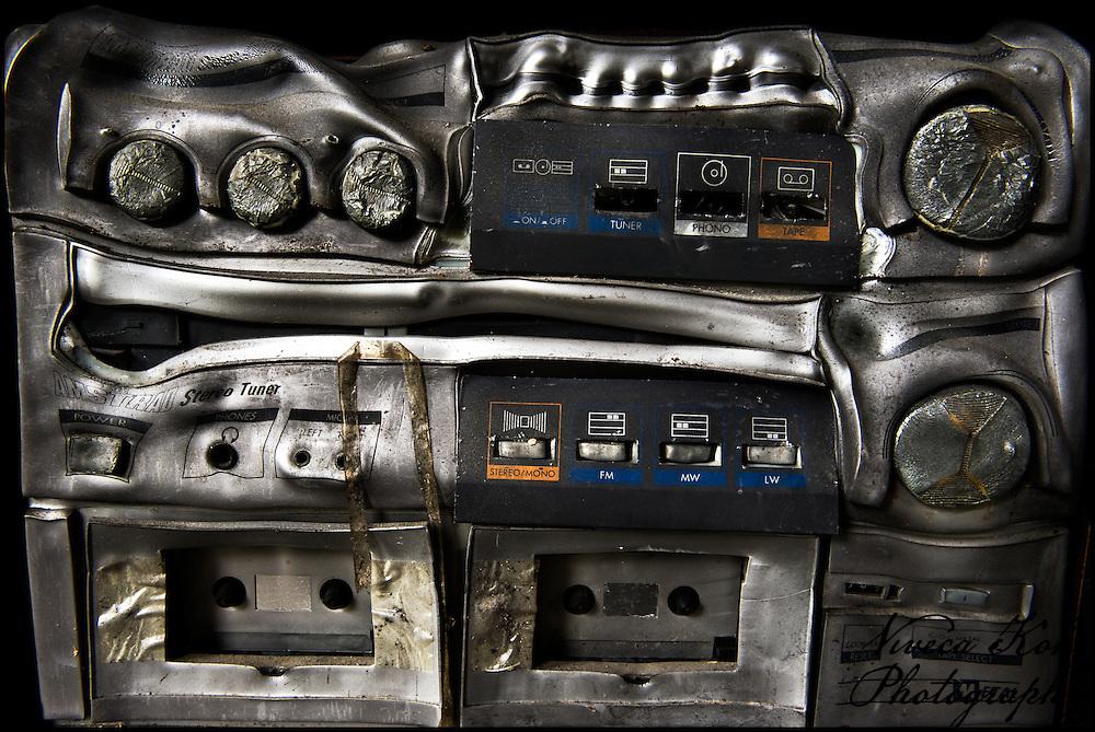 Fire-damaged music centre