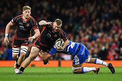 27th April 2019 , Principality Stadium , Cardiff, Wales ; Guinness pro 14's, Round 21, Dragons vs Scarlets ; Jack Dixon of Dragons in action<br /> <br /> Credit :  Craig Thomas/Replay Images