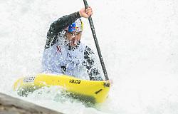 Peter Kauzer of Slovenia competes during the Kayak Single (K1) men race in Semifinal of European Open Canoe Slalom Cup on April 18, 2021 in Tacen, Ljubljana, Slovenia. Photo by Vid Ponikvar / Sportida