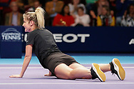 Helen Skelton during a celebrity doubles match at the Men's Singles Final Champions Tennis match at the Royal Albert Hall, London, United Kingdom on 9 December 2018. Picture by Ian Stephen.