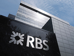 Headquarters of Royal Bank of Scotland , RBS, in modern business district at Amsterdam Zuid in The Netherlands