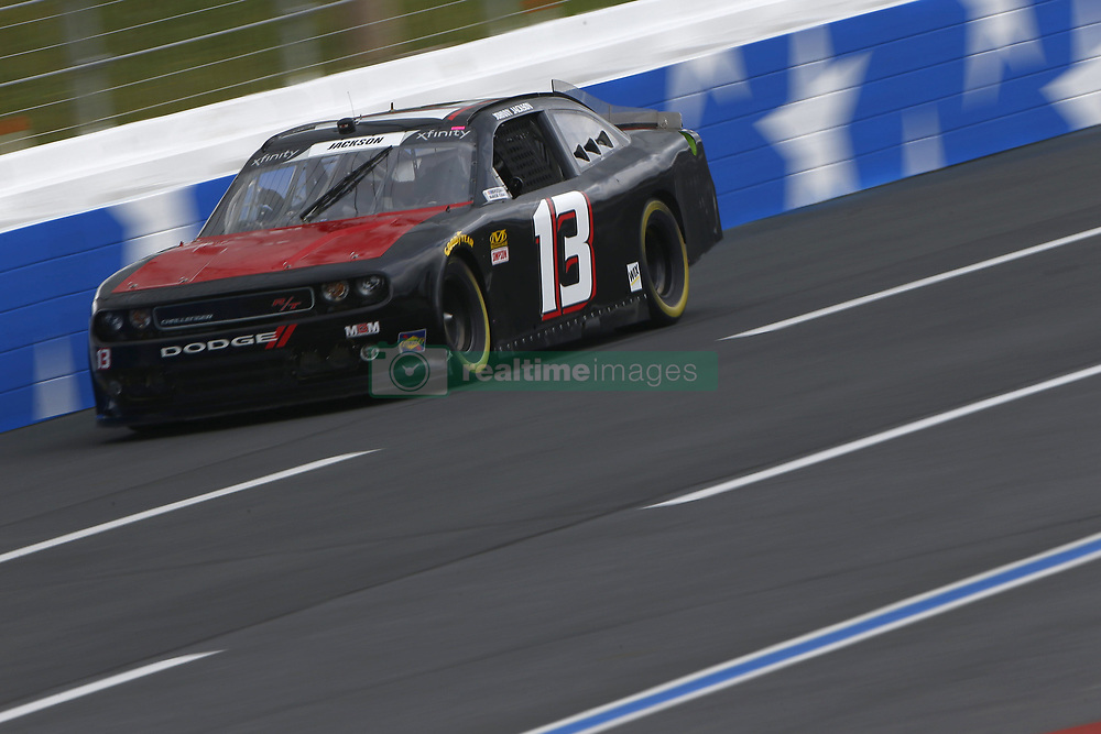 September 27, 2018 - Concord, North Carolina, United States of America - Carl Long (13)  races down the back straightaway during practice the Drive for the Cure 200 at Charlotte Motor Speedway in Concord, North Carolina. (Credit Image: © Chris Owens Asp Inc/ASP via ZUMA Wire)