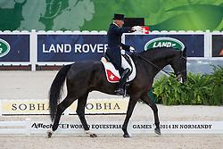 Hans Staub, (SUI), Warbeau - Grand Prix Team Competition Dressage - Alltech FEI World Equestrian Games™ 2014 - Normandy, France.<br /> © Hippo Foto Team - Leanjo de Koster<br /> 25/06/14