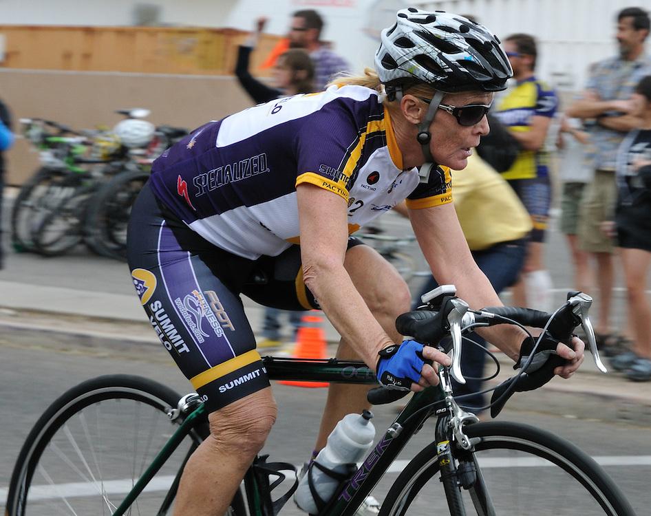 Rider in the 2011 UA Criterium bicycle race, Tucson, Arizona. Bike-tography by Martha Retallick.