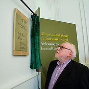 30.05. 2017.                                             <br /> Limerick Museum opened the doors to its new home at the former Franciscan Friary on Henry Street in the heart of Limerick city, dedicated to the memory of Jim Kemmy, the former Democratic Socialist Party and Labour Party TD for Limerick East and two-time Mayor of Limerick.<br /> <br /> Pictured at the opening and reading a plaque in honour of his brother the late Jim Kemmy was Joe Kemmy.<br /> <br /> The museum will house one of the largest collections of any Irish museum. Picture: Alan Place