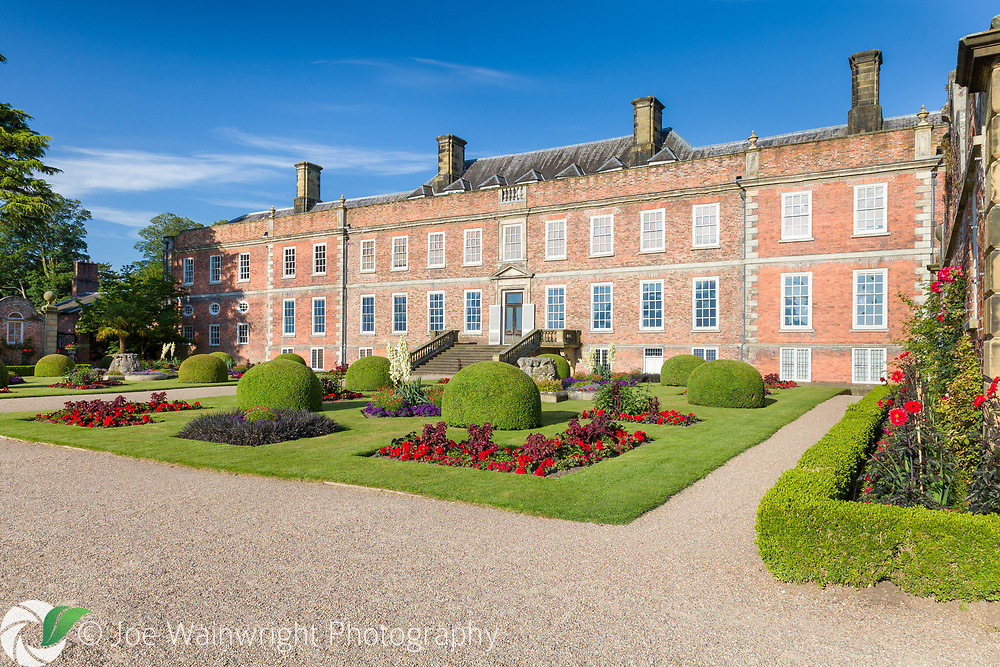 The gardens at Erddig Hall, a National Trust property near Wrexham, North Wales - photographed in July