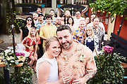 Tiki themed wedding photographed by lifestyle and event photographer Raymond Rudolph