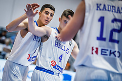 Nikolaidis  Alexandros of Greece, Karampelas  Zois of Greece during basketball match between National teams of Greece and Slovenia in the Group Phase C of FIBA U18 European Championship 2019, on July 29, 2019 in  Nea Ionia Hall, Volos, Greece. Photo by Vid Ponikvar / Sportida
