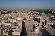lrooftops of Kaloun mosque in the old city  Boukhara  Ouzbekistan  .///.les toits de la mosquee  Kalon  Boukara  Ouzbekistan .///.OUZB56243D