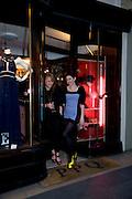 AMANDA HARDING; AMY MOLYNEUX, Jackdawstore. Pop Up store by PPQ. No 6 Burlington Arcade. London. 8 April 2009