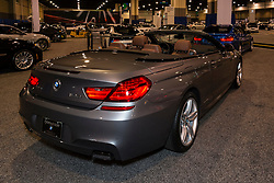 CHARLOTTE, NORTH CAROLINA - NOVEMBER 20, 2014: BMW 650i convertible on display during the 2014 Charlotte International Auto Show at the Charlotte Convention Center.