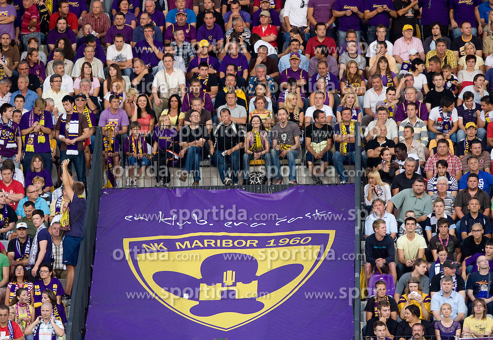 Maribor supporters at Third Round of Champions League qualifications football match between NK Maribor and FC Zurich,  on August 05, 2009, in Ljudski vrt , Maribor, Slovenia. Zurich won 3:0 and qualified to next Round. (Photo by Vid Ponikvar / Sportida)