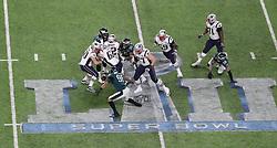 February 4, 2018 - Minneapolis, CA - Super Bowl Eagles wins 41-33 over Patriots..Philadelphia Eagles defensive end Derek Barnett (96) recovers a fumble by New England Patriots quarterback Tom Brady (12) at U.S. Bank Stadium within the last two minutes on Sunday, Feb. 4, 2018 in Minneapolis, CA (Credit Image: © Paul Kuroda via ZUMA Wire)