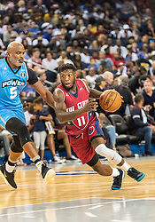 July 6, 2018 - Oakland, CA, U.S. - OAKLAND, CA - JULY 06: Nate Robinson (11) co-captain of Tri-State drives to the bucket during game 3 in week three of the BIG3 3-on-3 basketball league on Friday, July 6, 2018 at the Oracle Arena in Oakland, CA (Photo by Douglas Stringer/Icon Sportswire) (Credit Image: © Douglas Stringer/Icon SMI via ZUMA Press)