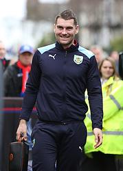 Burnley's Sam Vokes arrives to Selhurst Park