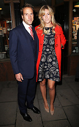 Ben Fogle and his wife Marina arriving for the launch of Pippa Middleton's new book on party planning, ' Celebrate: A Year of Festivities for Family and Friends'  in London, Thursday, 25th October 2012.  Photo by: Stephen Lock / i-Images