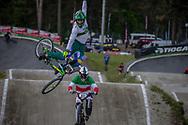 #808 (DA SILVA Ariel Joao) BRA during round 4 of the 2017 UCI BMX  Supercross World Cup in Zolder, Belgium.