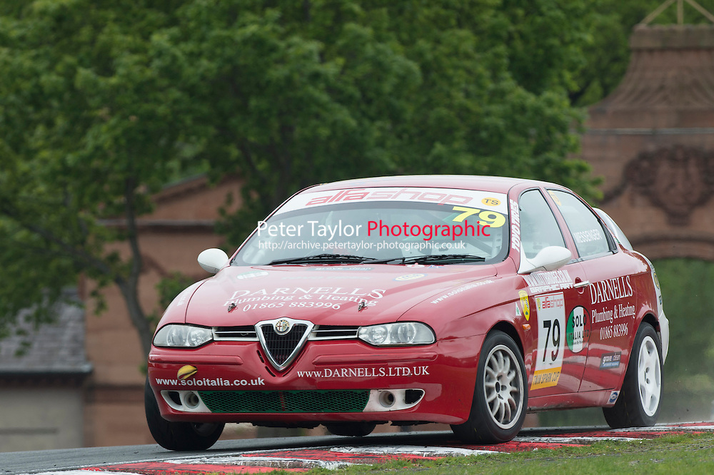 #79 David Messenger, Alfa Romeo 156 during BRSCC Alfashop Alfa Romeo Championship as part of the BRSCC Club Car Championships at Oulton Park, Little Budworth, Cheshire, . May 23 2015. World Copyright Peter Taylor/PSP. Copy of publication required for printed pictures.  Every used picture is fee-liable. http://archive.petertaylor-photographic.co.uk