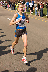 Ann Alyanak, 7th place finisher at mile 19
