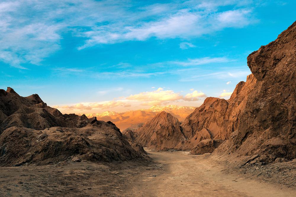 A view of the Death Valley at the Salt Mountain Range (Cordillera de la Sal), Atacama Desert, Northern Chile
