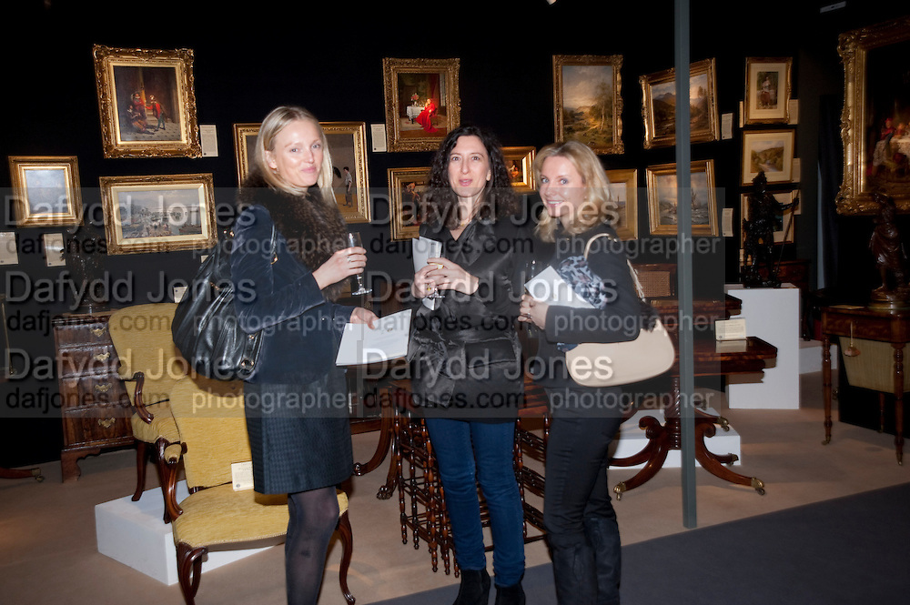 CLAIRE BROWN; LOUISE GREIDINGER; ROSIE MAY CARTER, Bada Antiques Fine art Fair charity Gala. In aid of Leukaemia and Lymphoma Research. 18 March 2010.