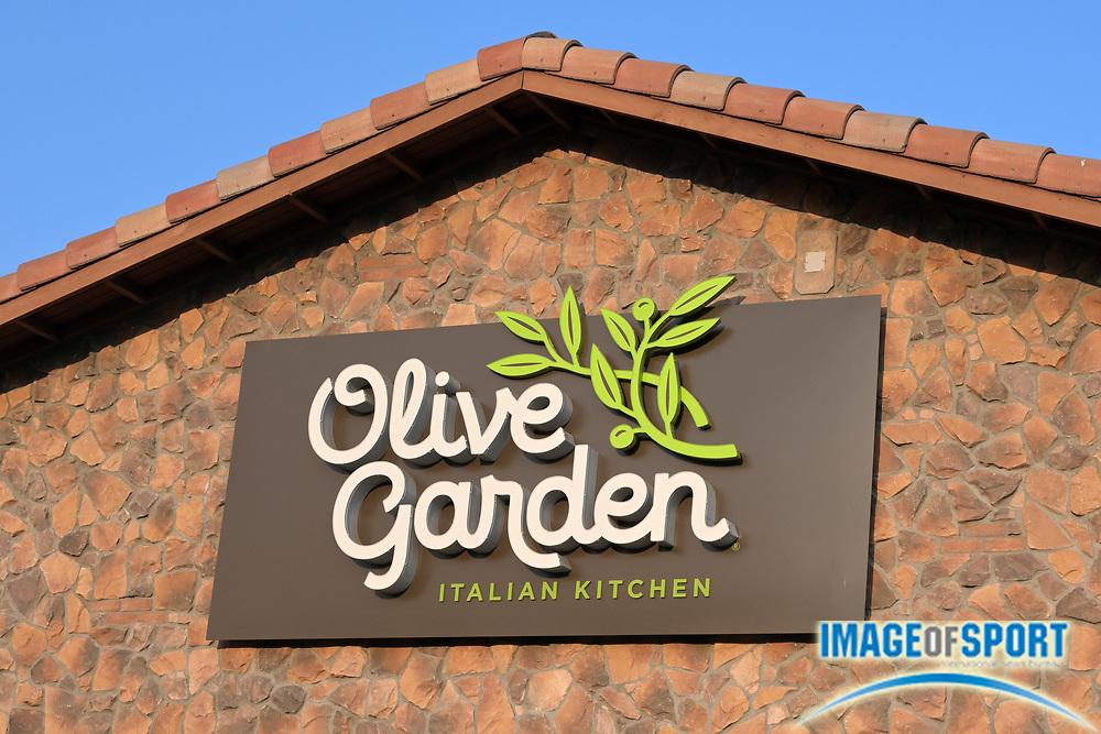 The Olive Garden Italian Kitchen restaurant at The Shops at Montebello, Friday, Sept. 18, 2020, in Montebello, Calif.