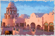 Digitally enhanced image of an Arabian Nights style Fantasy Palace