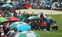 April 7, 2018 - Augusta, GA, USA - Tiger Woods hits from the 3rd tee during the third round of the Masters Tournament on Saturday, April 7, 2018, at Augusta National Golf Club in Augusta, Ga. (Credit Image: © Curtis Compton/TNS via ZUMA Wire)