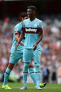 Reece Oxford of West Ham United looks on. Barclays Premier League, Arsenal v West Ham Utd at the Emirates Stadium in London on Sunday 9th August 2015.<br /> pic by John Patrick Fletcher, Andrew Orchard sports photography.