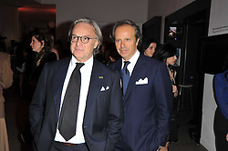 Left to right, DIEGO DELLA VALLE and ANDREA DELLA VALLE at the TOD'S Art Plus Drama Party at the Whitechapel Gallery, London on 24th March 2011.