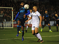 Football - 2019 / 2020 Emirates FA Cup - First Round, Replay: Bromley vs. Bristol Rovers<br /> <br /> Mark Little of Bristol and Luke Coulson of Bromley, at Hayes Lane.<br /> <br /> COLORSPORT/ANDREW COWIE