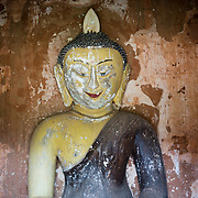 BAGAN, Myanmar - A Buddha statue in one of the stupas in the Paya-thone-zu Group in the Bagan Archeological Zone, Bagan, Myanmar.