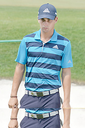 August 12, 2018 - St. Louis, Missouri, United States - Joaquin Niemann walks off the 18th green after the final round of the 100th PGA Championship at Bellerive Country Club. (Credit Image: © Debby Wong via ZUMA Wire)