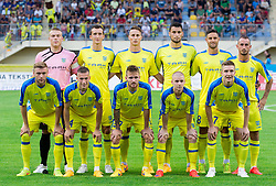Team of NK Domzale during 1st Leg football match between NK Domzale (SLO) na FC Cukaricki (SRB) in 1st Round of Europe League 2015/2016 Qualifications, on July 2, 2015 in Sports park Domzale,  Slovenia. Photo by Vid Ponikvar / Sportida