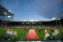A general view of St James' Park, todays venue the Quilter International between England v Italy ready for the plays<br /> <br /> Photographer Craig Thomas/Replay Images<br /> <br /> Quilter International - England v Italy - Friday 6th September 2019 - St James' Park - Newcastle<br /> <br /> World Copyright © Replay Images . All rights reserved. info@replayimages.co.uk - http://replayimages.co.uk