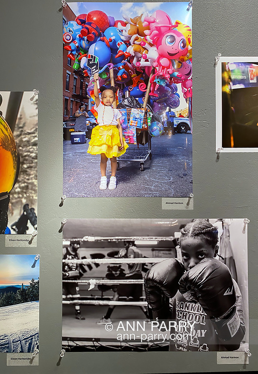 Huntington, New York, U.S. February 29, 2020.  Photographs by AHMAD HARMON are among those displayed at fotofoto gallery's 'Your Best Shot' Open Photography exhibition, seen during its Reception.
