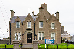 Exterior of County buildings housing Sheriff Court and Procurator Fiscal's Office in Lerwick, Shetland , Scotland, UK