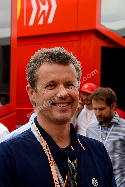 Frederik, crown prince of Denmark, before the 2019 Spanish Grand Prix at the Circuit de Barcelona-Catalunya. Photo: Grand Prix Photo