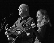 Willie Porter and Carmen Nickerson in concert at the second Winter Concert Series event sponsored by the Sisters Folk Festival.