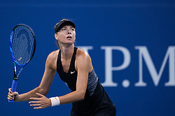 August 28, 2018 - Flushing Meadow, NY, U.S. - FLUSHING MEADOW, NY - AUGUST 28: MARIA SHARAPOVA (RUS) day two of the 2018 US Open on August 28, 2018, at Billie Jean King National Tennis Center in Flushing Meadow, NY. (Photo by Chaz Niell/Icon Sportswire) (Credit Image: © Chaz Niell/Icon SMI via ZUMA Press)